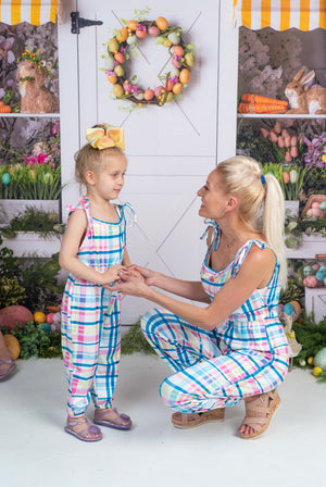 Bowtism Exclusive Mommy & Me Spring Romper with Matching Bow