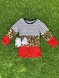 Bowtism Everyday Cheetah Shirt with Matching Bow