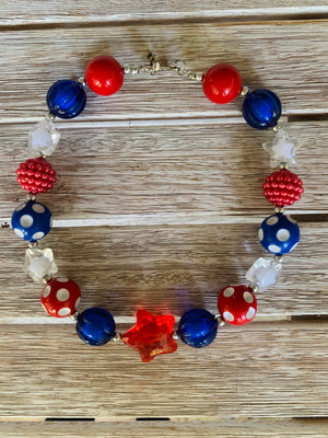 Star July 4th Necklace