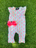 Bowtism Exclusive Lobster Party Romper with Matching Bow