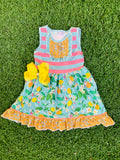 Bowtism Lemon Sweetheart Dress with Matching Bow