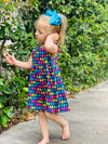 Bowtism Gummy Bear Dress with Matching Bow