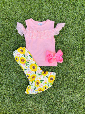 Bowtism Amelia Lace Capri with Matching Bow