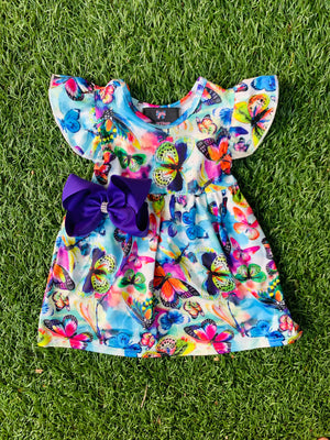 Bowtism Exclusive Butterfly Dress with Matching Bow