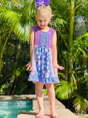 Bowtism Layla Dress with Matching Bow