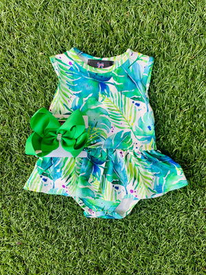 Bowtism Exclusive Florida Romper with Matching Bow