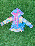 Bowtism Tie Dyed Spring Ruffle Jacket with Matching Bow