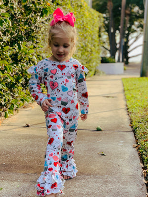 Bowtism Love Spell Romper with Matching Bow