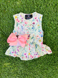 Bowtism Exclusive Ayla Romper with Matching Bow