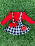 Bowtism plaid Heart Jumper with Matching Bow