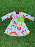Bowtism Exclusive Sugar Queen Twirl Dress with Matching Bow