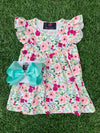 Bowtism London Floral Dress with Matching Bow