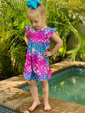 Bowtism Mermaid Flutter Dress with Matching Bow