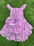 Bowtism Lilac Lace Dress