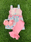 Bowtism Lola Lace Shorts Set with Matching Bow