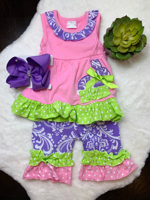 Bowtism Baby Bunny Shorts Set with Matching Bow