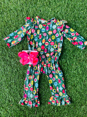 Bowtism Exclusive Ornament Romper with Matching Bow