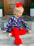 Bowtism Nutcracker Holiday Pants Set With Matching Bow