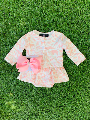 Bowtism Exclusive Animal Lullaby Romper with Matching Bow