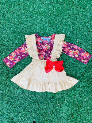 Bowtism Adeline Floral Jumper with Matching Bow