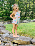 Bowtism Summertime Romper with Matching Bow