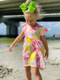 Bowtism Exclusive Fresh Lemon Dress with Matching Bow