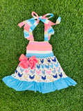 Bowtism Chicken Cutie Dress with Matching Bow