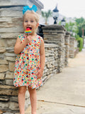 Bowtism Old School Candy Dress with Matching Bow