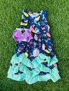 Bowtism Mermaid Ruffle Stretch Dress with Matching Bow