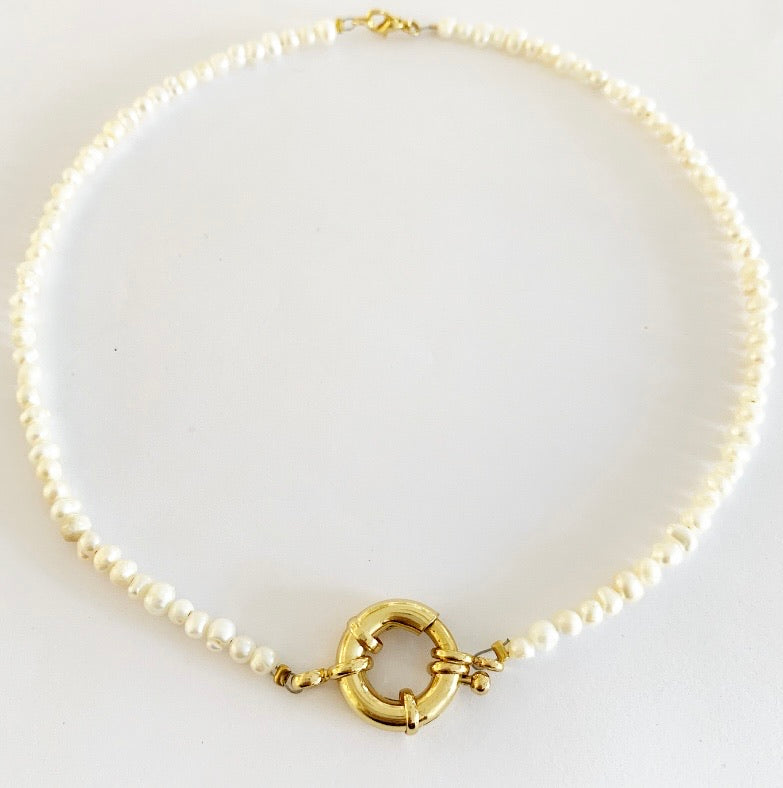 SABRINA NECKLACE PEARL