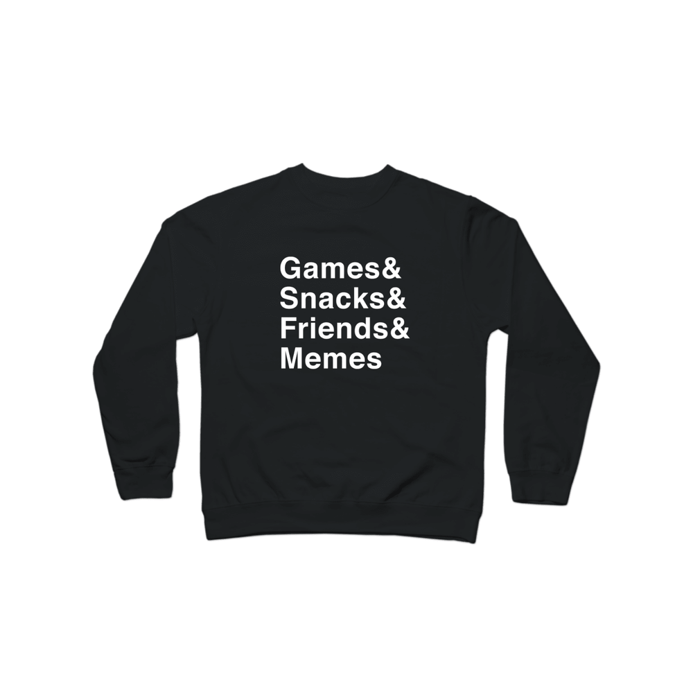 Multiplayer By BuzzFeed Games & Snacks & Friends & Memes Crewneck Sweatshirt