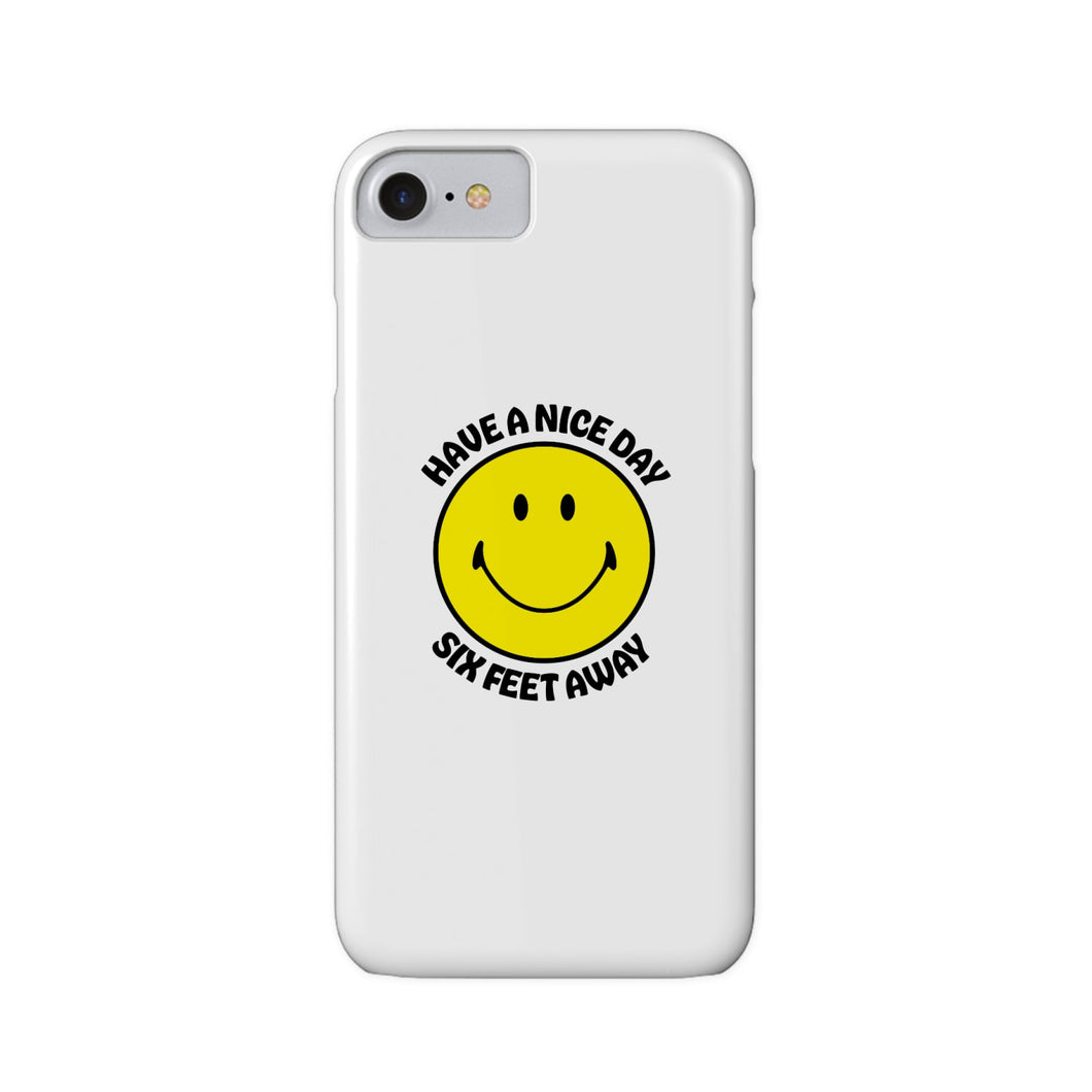 BuzzFeed Have A Nice Day Six Feet Away Slim iPhone Case
