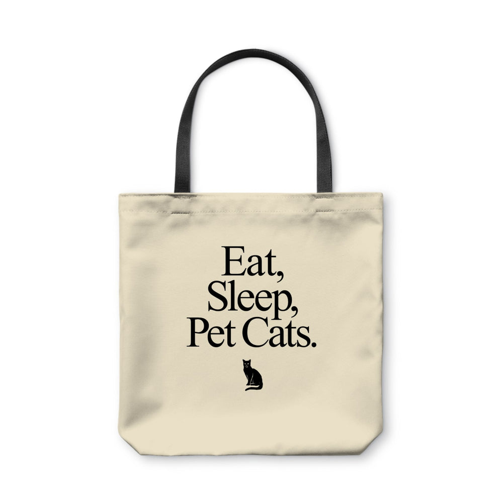 BuzzFeed Eat, Sleep, Pet Cats Cat Day Tote Bag