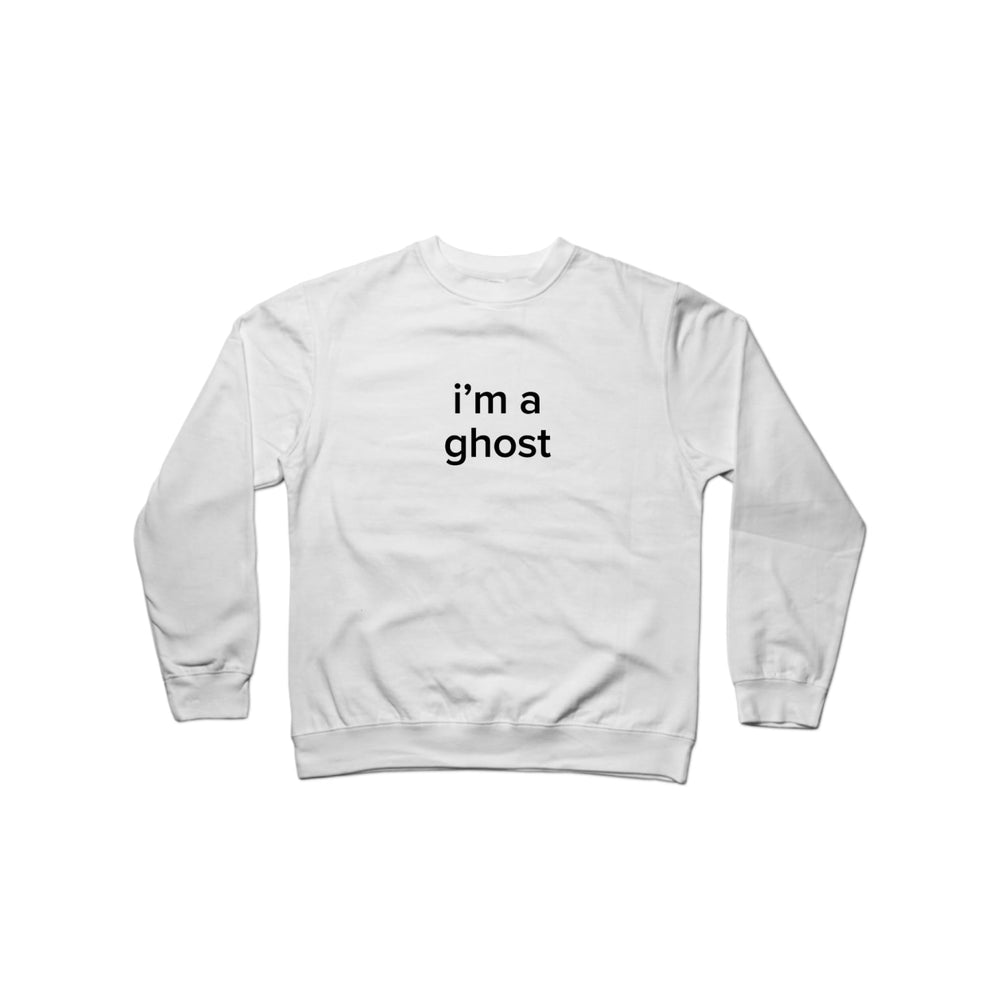 BuzzFeed I'm A Ghost Lazy Halloween Costume Crewneck Sweatshirt