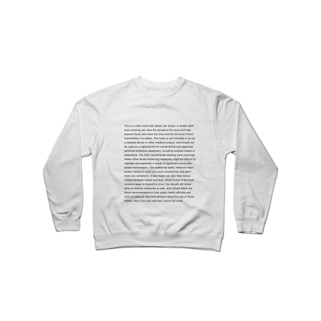 BuzzFeed Mask Up Crewneck Sweatshirt