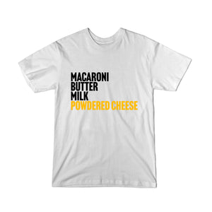 BuzzFeed Powdered Cheese Recipe Mac & Cheese Day Youth T-Shirt