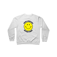 Load image into Gallery viewer, BuzzFeed Have A Nice Day Six Feet Away Crewneck Sweatshirt