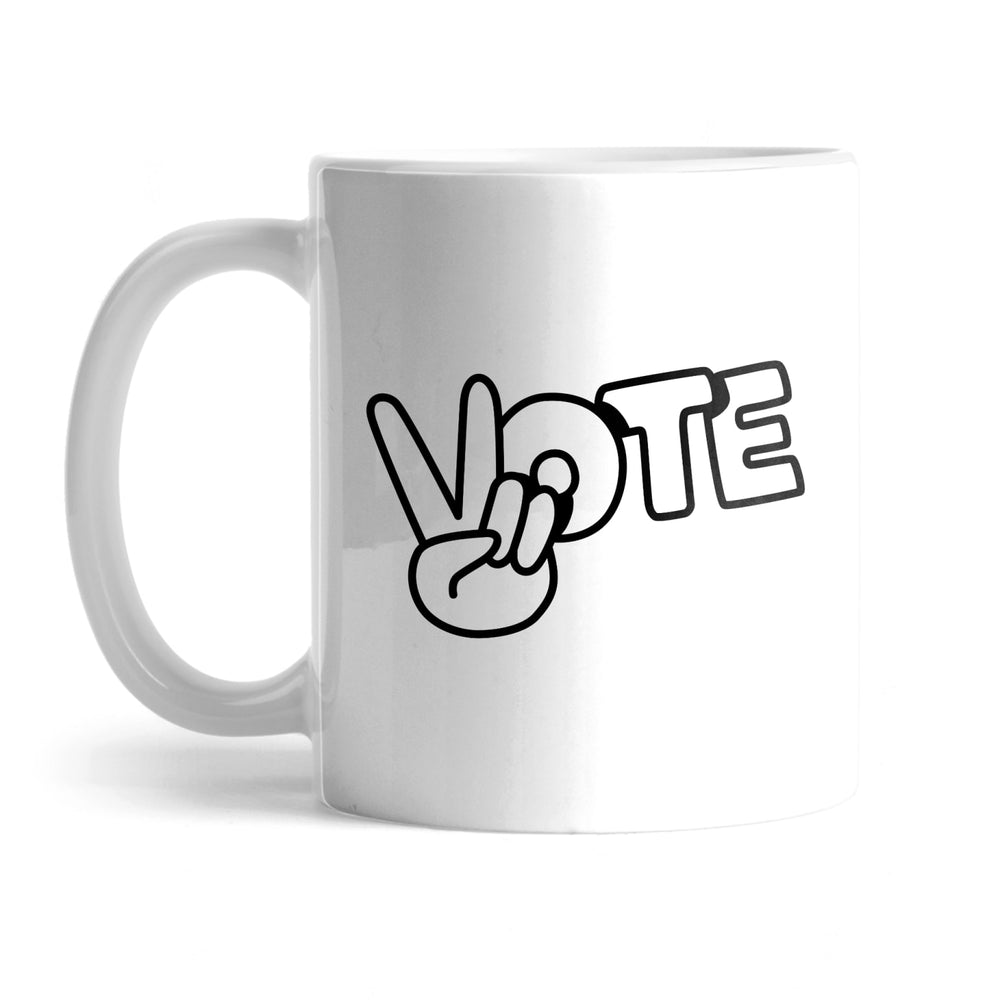 BuzzFeed Peace Sign Vote Mug