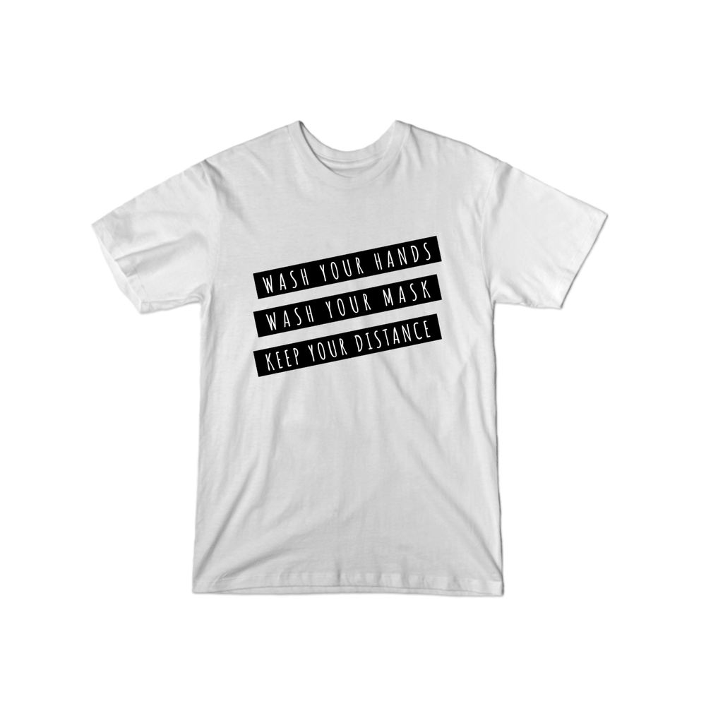 BuzzFeed Wash Your Hands, Mask, Keep Your Distance T-Shirt