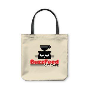 BuzzFeed Cat Cafe Cat Day Tote Bag