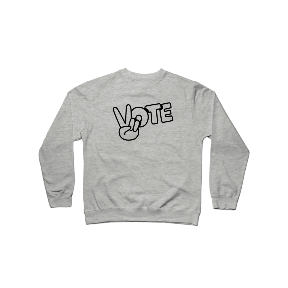 BuzzFeed Peace Sign Vote Crewneck Sweatshirt