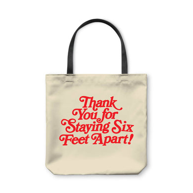 BuzzFeed Thank You For Staying Six Feet Apart Tote Bag