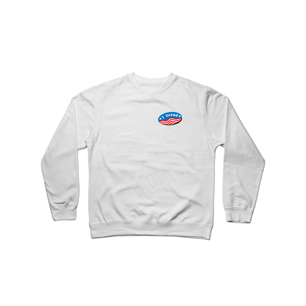 BuzzFeed I Voted Sticker Crewneck Sweatshirt