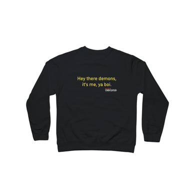 BuzzFeed Unsolved Hey There Demons Boi 2.0 Crewneck Sweatshirt