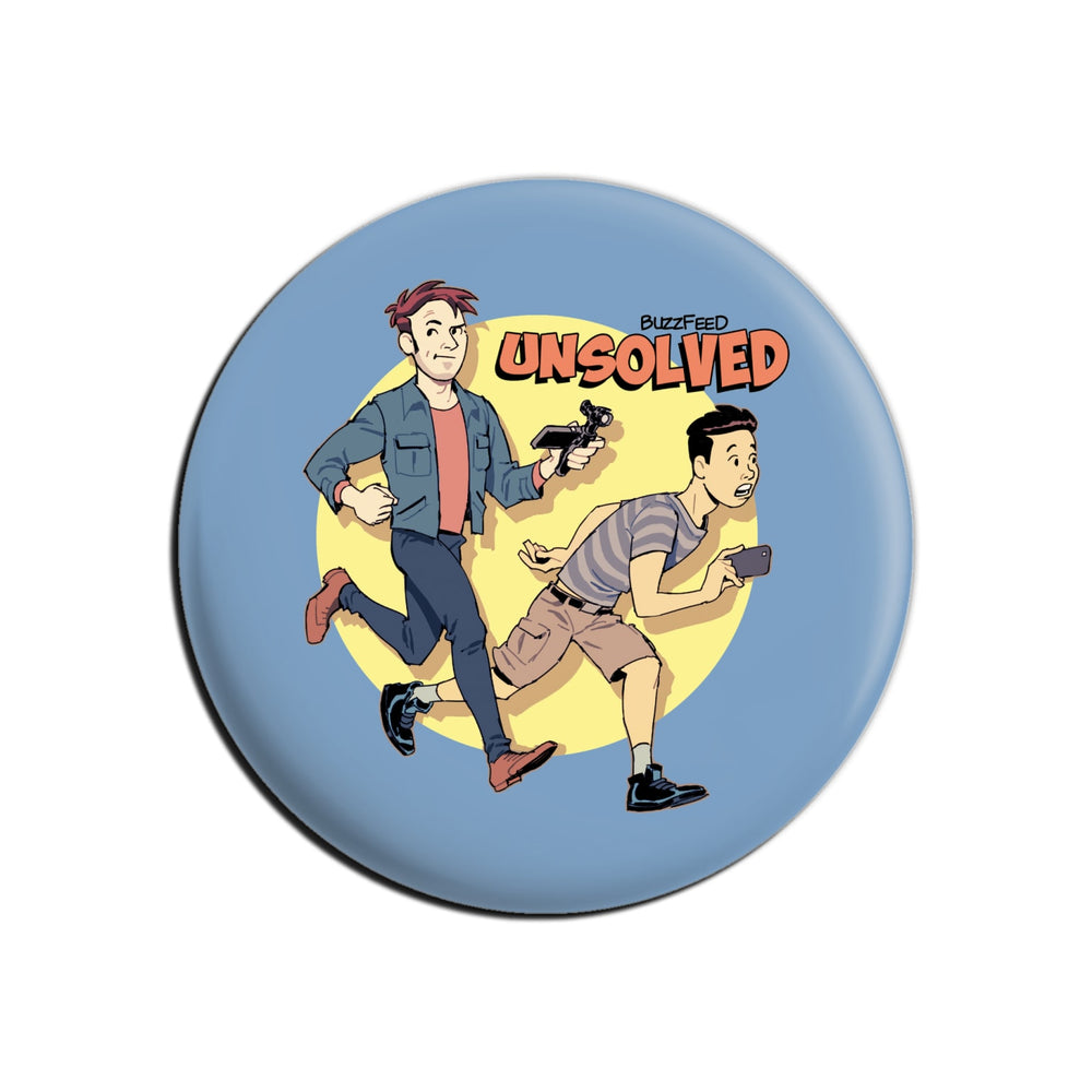 BuzzFeed Unsolved Saturday Morning Button Pin