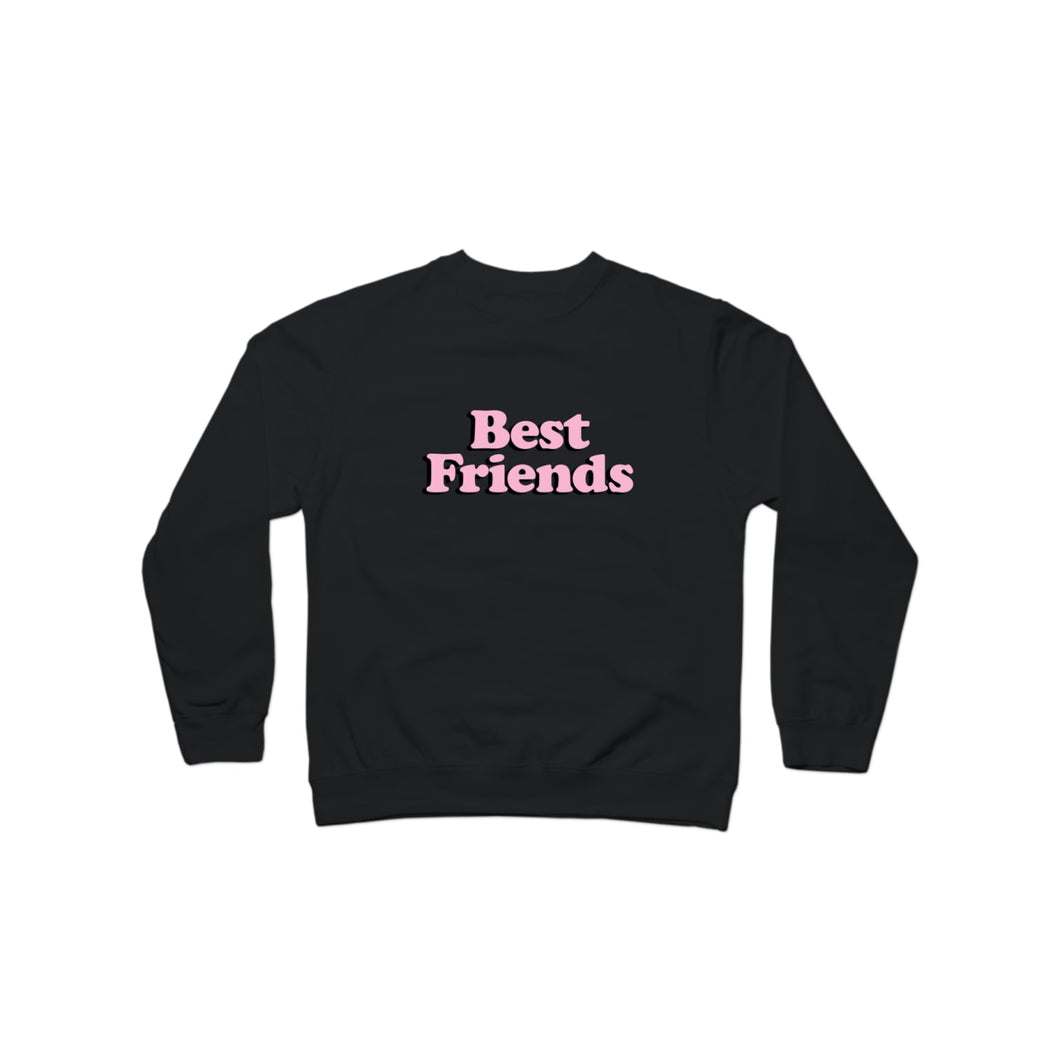 BuzzFeed Best Friends Pink Best Friend Day Crewneck Sweatshirt