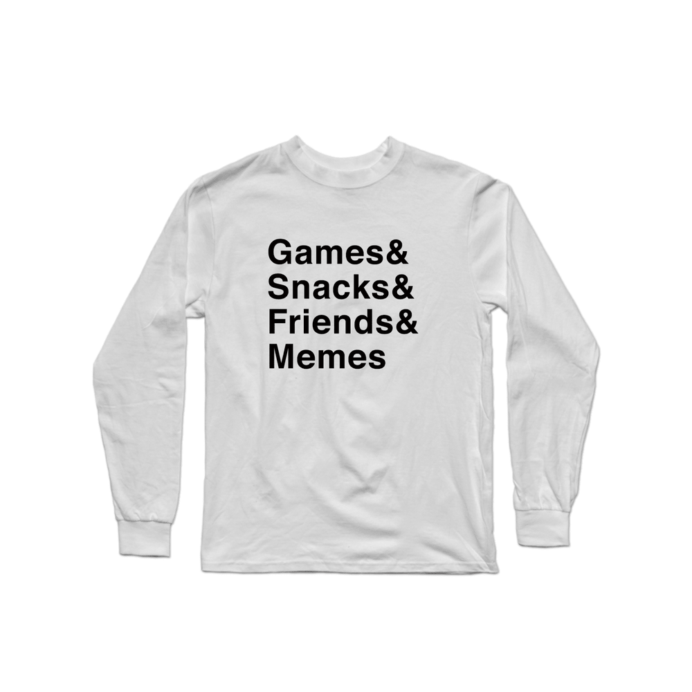 Multiplayer By BuzzFeed Games & Snacks & Friends & Memes Long Sleeve Shirt