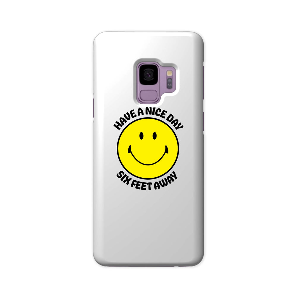 BuzzFeed Have A Nice Day Six Feet Away Slim Galaxy Phone Case