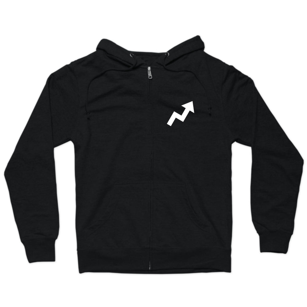 BuzzFeed Viral Arrow Light Weight Zip Up Hooded Sweatshirt