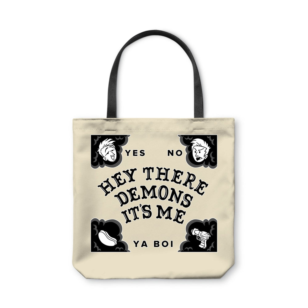BuzzFeed Unsolved Hey There Demons Board Tote Bag